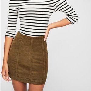 NWT Free People Modern Femme Corduroy Skirt
